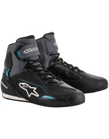 Alpinestars Stella Faster-3 Womens Riding Shoe Black/Grey/Ocean