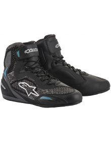 Alpinestars Stella Faster-3 Rideknit Womens Riding Shoe Black/Teal