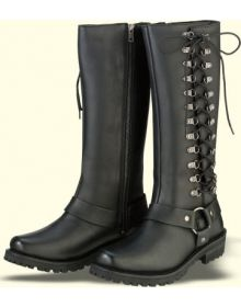 Z1R Savage Waterproof Leather Womens Boots Black