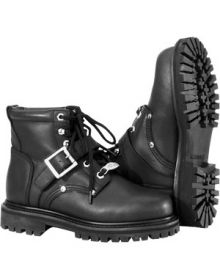 River Road Crossroads Buckle Boots Womens Black