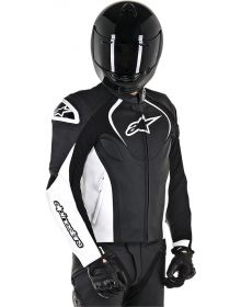 Alpinestars Jaws Leather Jacket Black/White