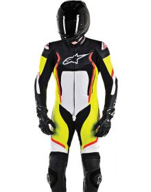 Alpinestars Motegi V2 One-Piece Suit Black/White/Yellow/Red