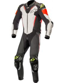 Alpinestars Atem V3 One-Piece Suit Black/White/Red Fluo/Yellow Fluo
