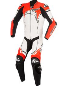 Alpinestars GP Plus V2 One-Piece Suit White/Black/Red Fluo