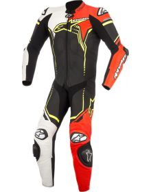 Alpinestars GP Plus V2 One-Piece Suit Black/White/Red Fluo/Yellow Fluo
