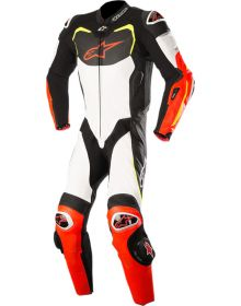 Alpinestars GP Pro One-Piece Suit Black/White/Red Fluo/Yellow Fluo