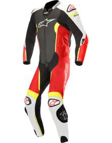 Alpinestars Missile One-Piece Suit Black/White/Red Fluo/Yellow Fluo