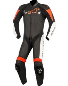 Alpinestars Challenger V2 One-Piece Suit Black/White/Red Fluo
