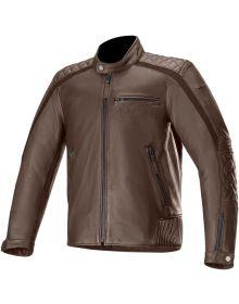 Alpinestars Hoxton V2 Leather Jacket Brown