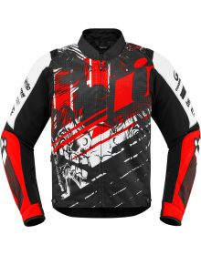 Icon Overlord Stim  Jacket Red