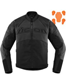 Icon Contra2 Leather Jacket Stealth Black