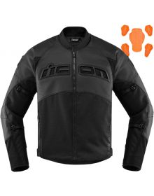 Icon Contra2 Leather Perforated Jacket Stealth Black