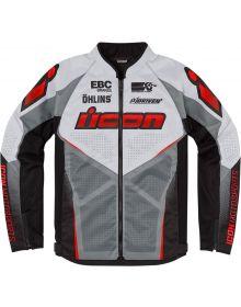 Icon Hooligan Ultrabolt Jacket Red