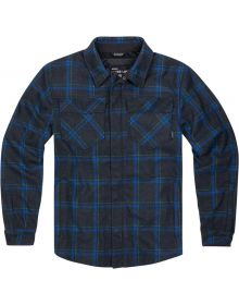 Icon Upstate Riding Flannel Jacket Blue