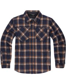 Icon Upstate Riding Flannel Jacket Orange