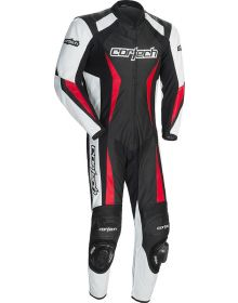 Cortech Latigo 2.0 One Piece Leather Suit Black/White/Red