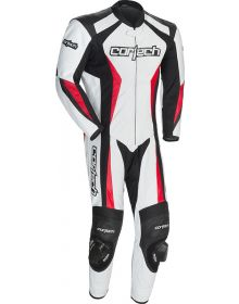 Cortech Latigo 2.0 One Piece Leather Suit White/Black/Red