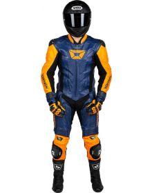 Cortech Apex V1 1 Piece Suit Orange/Blue