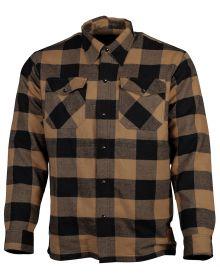 Cortech Bender Riding Flannel Shirt Brown