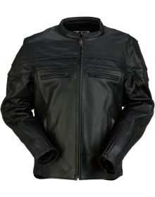 Z1R Bastion Leather Jacket Black