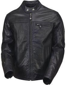Roland Sands Ronin Perforated Leather Jacket Black