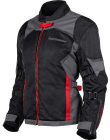 Tourmaster Intake Air V6 Womens Jacket Red/Grey