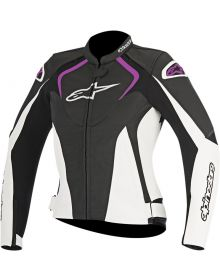 Alpinestars Stella Jaws Leather Women Jacket Black/White/Pink