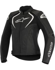 Alpinestars Stella Jaws Leather Perforated Women Jacket Black