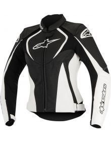 Alpinestars Stella Jaws Leather Perforated Women Jacket Black/White
