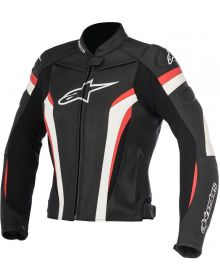 Alpinestars GP Plus R V2 Womens Leather Jacket Black/White/Red