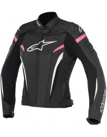 Alpinestars GP Plus R V2 Womens Leather Jacket Black/White/Fuchia