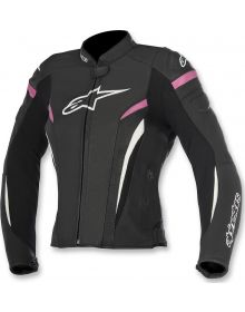 Alpinestars GP Plus R V2 Airflow Womens Leather Jacket Black/White/Fuchia