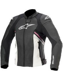 Alpinestars Stella GP Plus R V3 Womens Leather Jacket Black/White/Fuchsia
