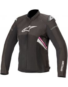 Alpinestars Stella T-GP Plus R V3 Air Womens Jacket Black/White/Fuchsia