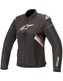 Alpinestars Stella T-GP Plus R V3 Air Womens Jacket Black/Fluorescent Red