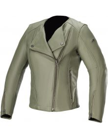 Alpinestars Stella Alice Womens Leather Jacket Military Green