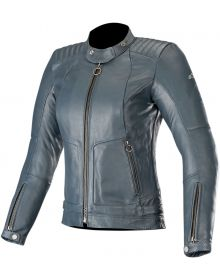 Alpinestars Stella Gal Womens Leather Jacket Mood Indigo