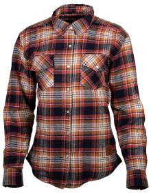 Cortech Missfit Womens Rding Flannel Shirt Red/Blue