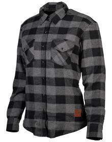 Cortech Missfit Womens Rding Flannel Shirt Gray