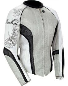 Joe Rocket Cleo 2.2 Womens Jacket Silver/Black