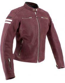 Joe Rocket Classic 92 Womens Jacket Oxblood/Cream