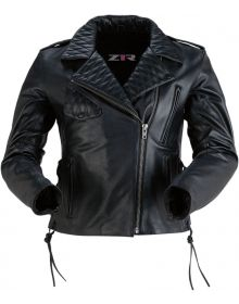 Z1R Forge Leather Womens Jacket Black