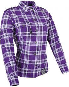 Speed and Strength Smokin Aces Motoshirt Womens Jacket Purple