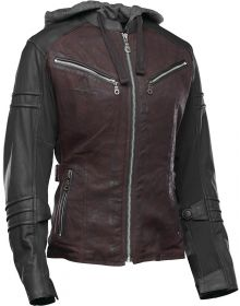 Speed and Strength Street Savvy Leather/Textile Jacket Oxblood/Black