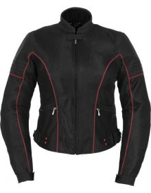 Poker Run Miya Womens Jacket Black/Red
