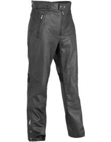 River Road Bravado Leather Overpants Black