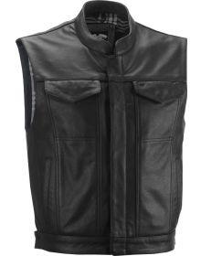 Highway 21 Magnum Leather Vest Black