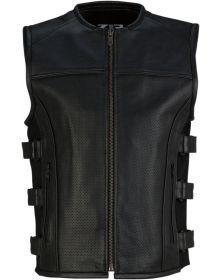 Z1R Infiltrator Leather Vest Black