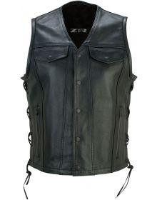 Z1R Gaucha Leather Womens Vest Black
