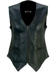 Z1R Scorch Leather Womens Vest Black